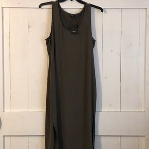 NWT Olive Green Torrid Midi Tank Dress w/side slit